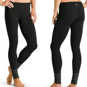 Athleta Plie Tight Black & Gray Leggings Sz S